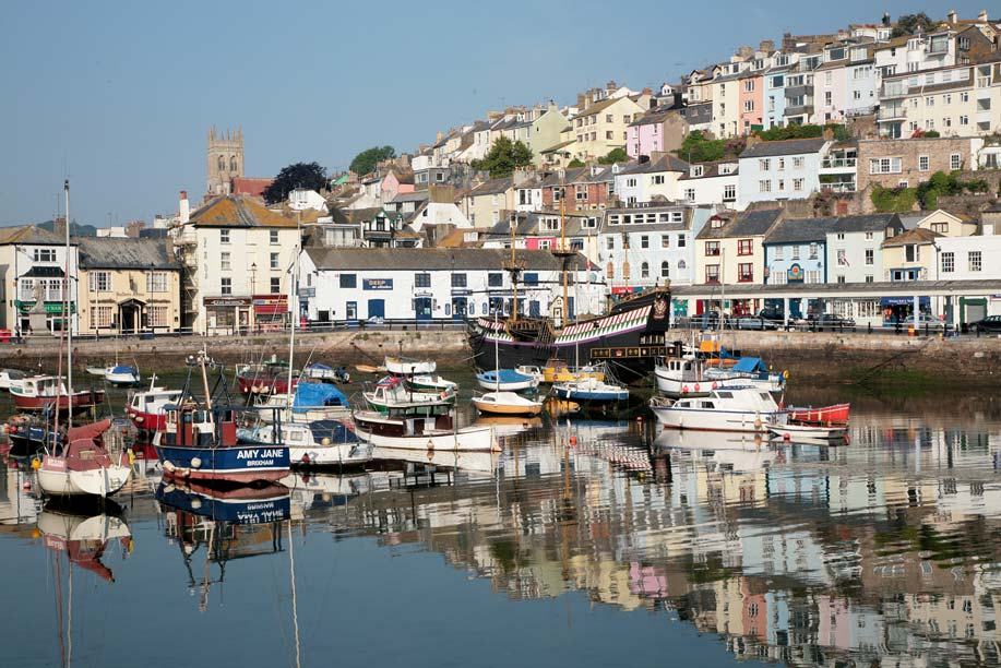 A view of Brixham Harbour
